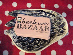 Beehive Bazaar cards on wing plate