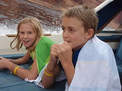 kids on the Sea Ray