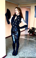 karen chessman: Fetish lifestyler tranny (Karen Chessman: In Trans Umbraculis Fetish Luminis) Tags: mannequin public leather fashion fetish outdoors photography model glamour shiny boots photos gothic moda tgirl transgender gloves tranny transvestite trans mistress fashionista transexual mode diva crossdresser pelle leder kinky bottes longhairs modele cuero cuir fetisch travesti chessman gants maitresse transexuelle lifestyler operagloves transgenre karenchessman ledermode