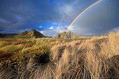 Whatipu Rainbow (Chris Gin) Tags: new west beach coast rainbow auckland zealand nz whatipu