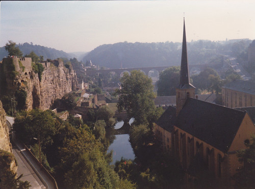 Luxembourg: Looking over Pulvermuhle from the city walls