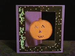Suspended Halloween Card