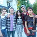 Miranda Cosgrove with her Band
