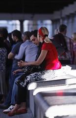 Due... (mari27454 (Marialba Italia)) Tags: boy red girl couple rosso ragazza coppia ragazzo bionda