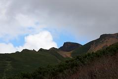 稜線越しの上ホロカメットク山