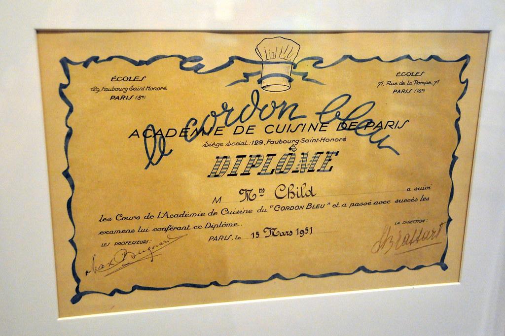 Julia's Cordon Bleu Diploma