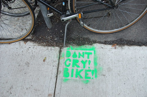 Don't cry! Bike!