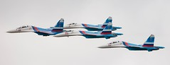Russian Falcons' formation of 4 Su-27 (RIN&RBI) Tags: maks sukhoi rbi su27  27  maks2009 russianfalcons