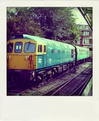 33111, Swanage Railway (Richard and Gill) Tags: train polaroid br railway dorset locomotive sr swanage britishrail dieselengine southernrailway crompton britishrailways swanagerailway class33 33111 poladroid southernregion brcw