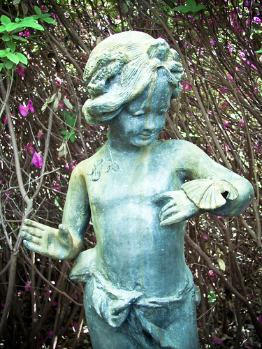 Statue of Girl with Butterfly
