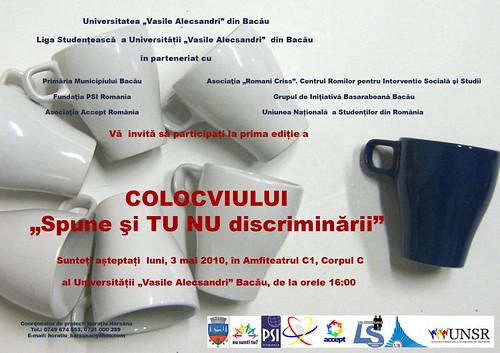 afis-spune si tu nu discriminarii