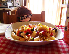 My geek girl is hungry...LOL!