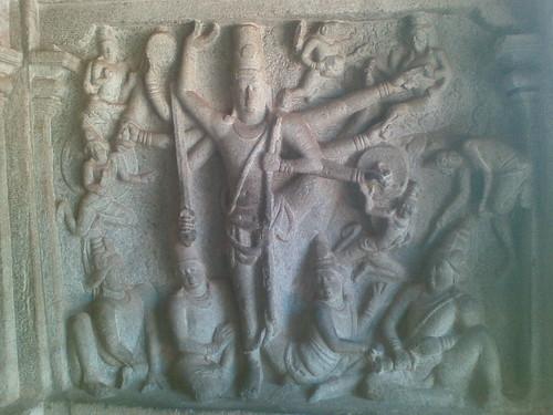 Trivikrama Panel, Varaha Mandapam, Mamallapuram