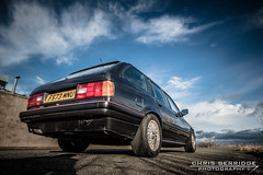 (Chris B70D) Tags: new chris winter sky black detail classic car metal clouds contrast canon reflections project dark point photography cool gun raw estate awesome wheels 1988 dream wip automotive icon headlights diamond german round be bmw editing schwartz bbs base touring metalic e30 starting continued 70d berridge 320ia