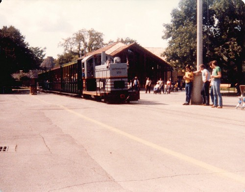 Chicago's Brookfield Zoo train. ( Gone.) Brookfield Illinois . September 1982. by Eddie from Chicago