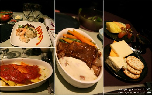 Meals on Cathay Pacific