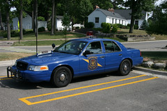 Michigan State Police car (RickM2007) Tags: ford police policecar law lawenforcement laws policeman squadcar thelaw statepolice crownvic fordcrownvic michiganpolice