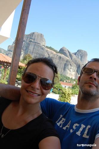 Vista do Doupiani Hotel en Kastraki - Grécia
