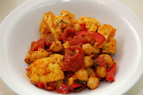Indian Cauliflower Stir-Fry with Chickpeas