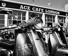 Mods at the Ace (Norton Nick) Tags: blackandwhite london ariel monochrome mod vespa ace ska motorcycles scooter norton lambretta triumph british lightning rocknroll comet caferacer rockers triton mods commando racer piaggio skinhead blackshadow ajs bsa matchless acecafe featherbed dominator modsandrockers steib acecafelondon tonupcafe