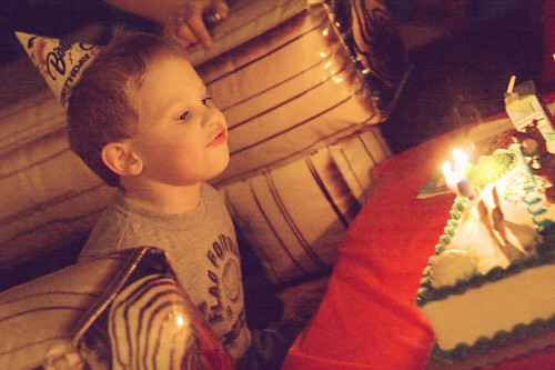 Caleb blowing out the candles #2
