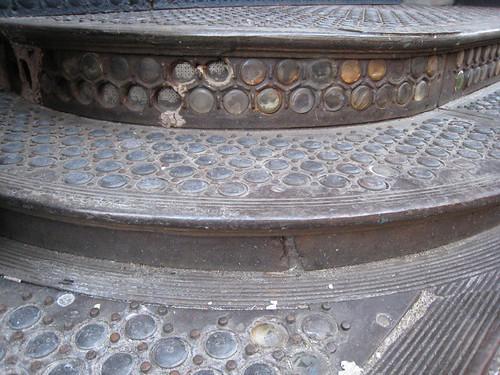 glass stairs & sidewalk detail
