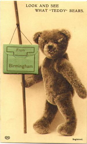 Novelty Birmingham Photos Postcard