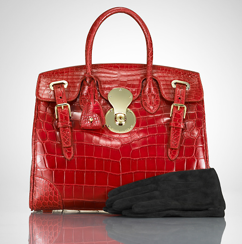 RalphLauren.com - Women: The Crocodile Ricky Bag