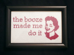 The Booze Made Me (Stitch Out Loud) Tags: crossstitch retro booze stitchoutloud