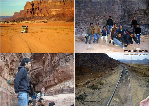 Wadi Rum, Jordan Collage