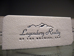 Legendary Realty Business Card (dolcepress) Tags: ny newyork colorado duplex ithaca letterpress businesscard 14850 roundedcorners cottonpaper legendaryrealty