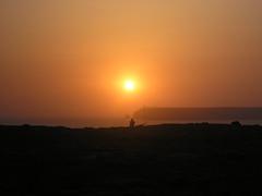 Western view (andymccreery) Tags: sunset sea sky portugal cyclist dusk algarve