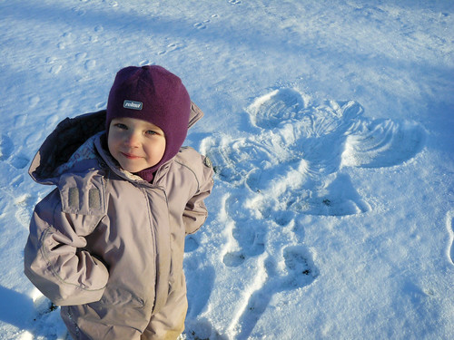 Ronja's snow angel