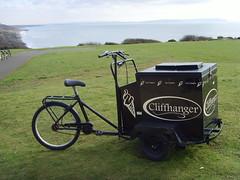 Cliffhanger (adele.turner) Tags: beach bicycle seaside dorset cliffhanger highcliffe icecreams cliffhangerrestaurant