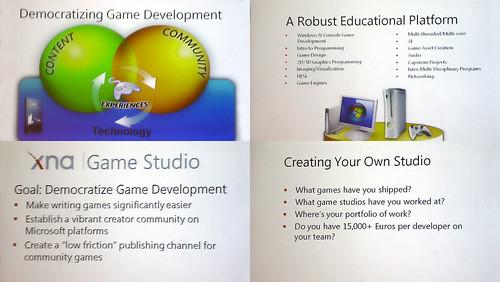 xna game studio / lecture