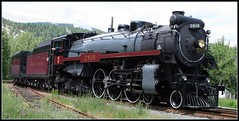 CPR Empress Steam Locomotive 2816 (arrowlakelass) Tags: canada bc steam locomotive cpr castlegar 150thanniversary 2816 bej royalhudson
