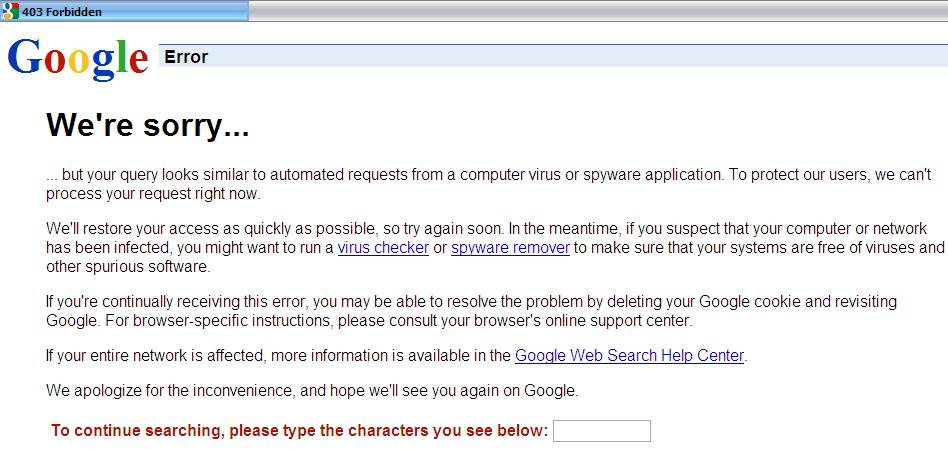 Gmail 403