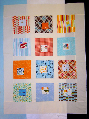 Boy Blocks quilt top