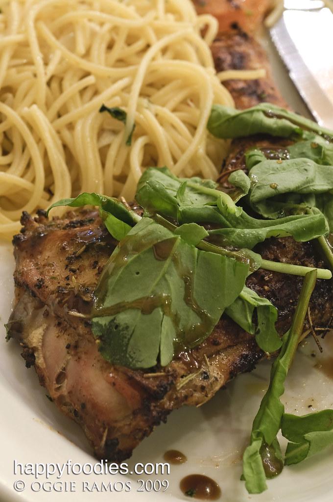 pollo con rucola (chicken with arugula)