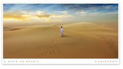 a-walk-on- the desert (ArabianLens.com) Tags: road man evening desert walk dune saudi arabia  bader    madinah