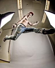 Jump around. (David Klasson) Tags: tattoo jump shoes arms pants cap fists strobits powmerantusenord