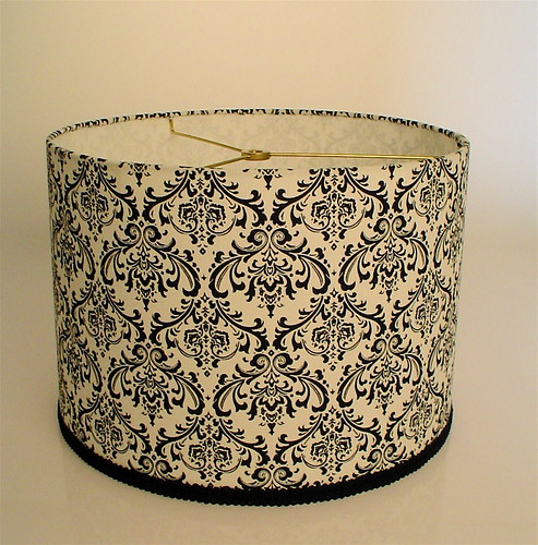 Black & White Drum Lampshade