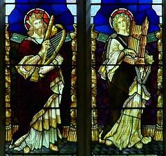 King David and St Cecilia (robin.croft) Tags: david saint wales cecilia harp rct kingdavid cecelia elvan saintcecilia rhonddacynontaff aberdare organetto stelvans