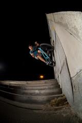 bmx walride over 7 steps Max Koshik kiev (chorniy81) Tags: bmx walride over 7 steps max koshik kiev   extreme sports            action bicycles bikes       night speedlights   zenitar16mm fisheye wideangle