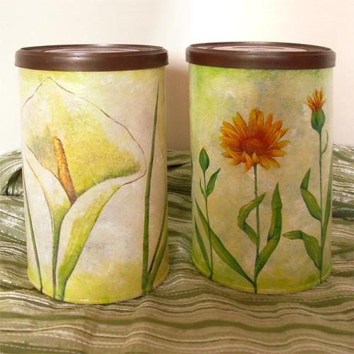 decoupage flower boxes