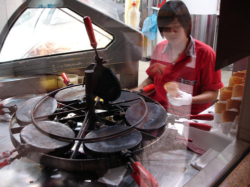 finished waffle cone