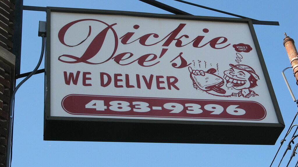 Dickie Dee's Bloomfield Ave Newark NJ sign
