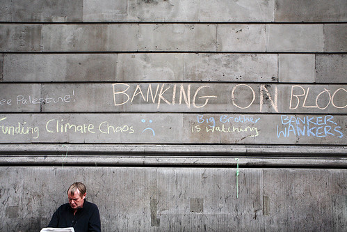 G20 Summit Meltdown Protest, The Bank of England, The City of London, UK