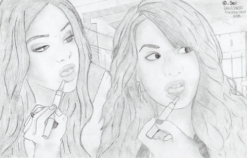 selena gomez drawing pictures. Selena Gomez and Demi Lovato