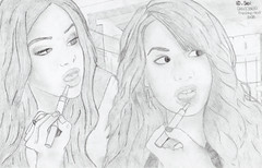 Selena Gomez and Demi Lovato by Seil. (_Seil) Tags: new news hot sexy love me beautiful marie wonderful hair fly amazing cool concert eyes friend kevin with friendship brothers head drawing live album awesome nick go picture first style joe lips here we semi lena again demi paranoid draw cyrus sel jonas ever selena gomez debut miley seil lovato devonne delena niley demetria nelena